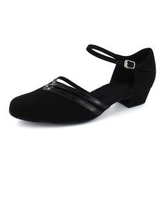 De mujer Piel brillante Nubuck Planos Moderno con Tira de tobillo Zapatos de danza