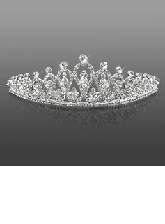 schitterende strass bruiloft tiara / hoofddeksel (042009727)