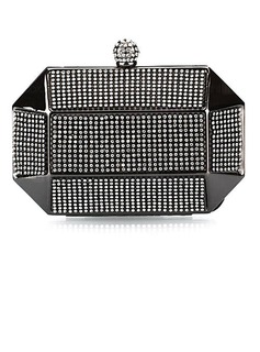 Charming Metal with Crystal Evening Handbag/Clutches (012025187)