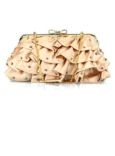 Unique Satin with Crystal Evening Handbag/Clutches(More Colors) (012025207)