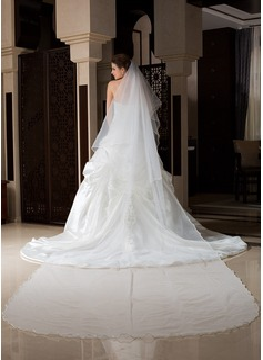 Uno capa Velos de novia catedral con Recortada