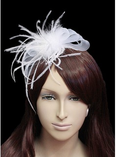 Amazing Flannelette With Tulle Women's Wedding Fascinators (042024899)
