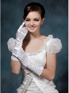 Elastic Satin Elbow Gloves (014020503)