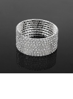 Seven Layers Ladies' Rhinestone Tennis Bracelet In Silver Alloy  (095017941)