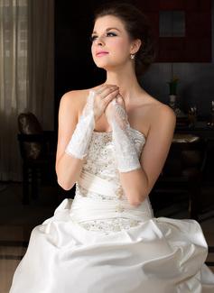 Satin elastico Elbow Lunghezza Partito/Stile Guanti/Guanti da Sposa