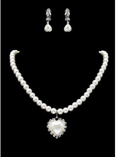 Jewelry Sets Anniversary Wedding Engagement Birthday Gift Party Daily Alloy With Rhinestones Silver Jewelry With Pearl Rhinestone (011019401)