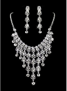Jóias (Gorgeous Alloy With Czech Rhinestones Wedding Bridal Jewelry 011005476)