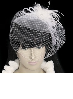 Amazing Flannelette With Net/Tulle Women's Wedding Fascinators (042024900)
