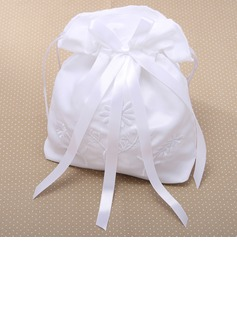 Raso bella con Bowknot e ricamo Wedding Bridal Purse (012026339)