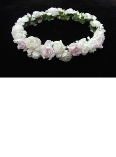 Lovely Paper Flower Wedding Flower Girl Wreath (042025216)