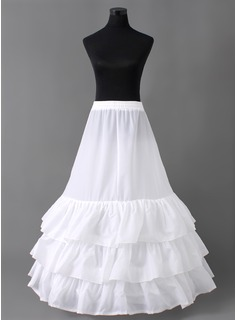 Nylon Ball Gown 3 Tier Floor-length Slip Style/ Wedding Petticoats (037005405)