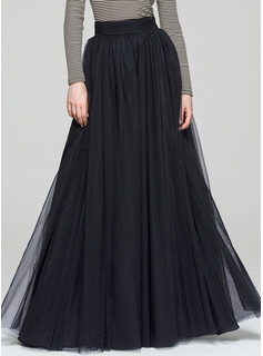 A-Line/Princess Floor-Length Tulle Cocktail Dress