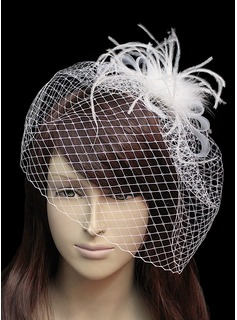 Beautiful Flannelette With Net/Tulle Women's Wedding Fascinators (042024901)