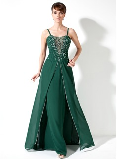 Sheath Sweetheart Floor-Length Chiffon Mother of the Bride Dress With Ruffle Beading (008017173)