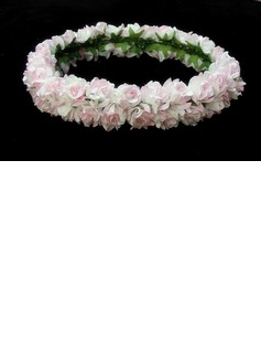 Lovely Pink Paper Flower Wedding Flower Girl Wreath/ Headpiece (042025221)