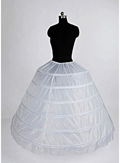 Nylon ball kjole Full kappe 1 Tier fotsid Slip stil / Wedding Petticoats (037004105)