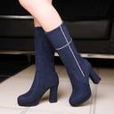 Femmes Suède Talon bottier Bottes avec Autres chaussures (088109386)