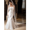 One-tier Cathedral Bridal Veils With Pencil Edge (006035874)