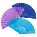 Elegant Silk/Polypropylene Hand fan (Set of 4) (051046522)