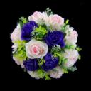 Classic Round Satin Bridal Bouquets (123031419)
