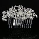 Elegante Rhinestone/Aleación/La perla de faux Peines y pasador (042091679)