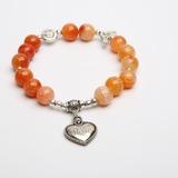 Personalized Faux Rhodochrosite Ladies' Bracelets