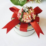 Clear Top Favor Tin With Red Bow (Set of 6) (050016133)