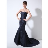 Mermaid Sweetheart Court Train Taffeta Mother of the Bride Dress (008022555)