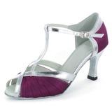 De mujer Satén Cuero Tacones Sandalias Danza latina con Tira T Zapatos de danza
