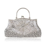 Silk With Sequin/ Imitation Pearl Evening Handbags/ Clutches/ Top Handle Bags More Colors Available  (012025210)