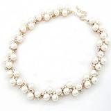 Exquisiten Legierung/Perle mit Strass Damen Halsketten