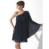 A-Line/Princess One-Shoulder Short/Mini Chiffon Cocktail Dress With Pleated