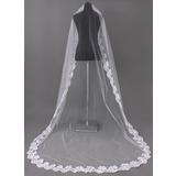 Uno capa Velos de novia capilla con Con Aplicación de encaje (006002242)