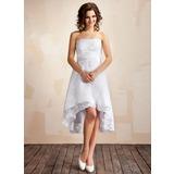Corte A/Princesa Estrapless Asimétrico Encaje Vestido de novia