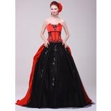 Duchesse-Linie Wellenkante Sweep/Pinsel zug Charmeuse Quinceañera Kleid (Kleid für die Geburtstagsfeier) mit Perlen verziert Applikationen Spitze