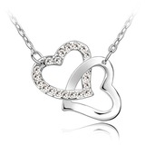 Elegant Platinum Plated With Crystal Ladies' Necklaces