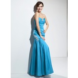 Mermaid Sweetheart Floor-Length Taffeta Prom Dress With Ruffle Beading (018004874)