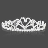 Attractive Clear Crystals Wedding Bridal Tiara (042004259)