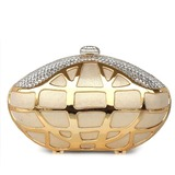 Elegant Silk/Metal With Rhinestone Clutches