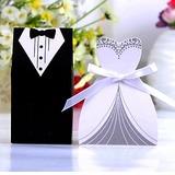 Smoking y del Vestido Cajas de regalos con Cintas (Juego de 6 Pares)