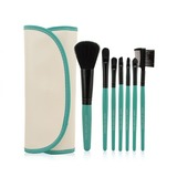 7 Pcs Makeup Brush Set With PU Pouch CB0706MFY 6 Color For Option (046052621)