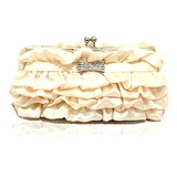 Elegant Polyester Ruffles Evening Handbag/Clutches(More Colors) (012025206)