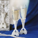 Fairytale Coach Wedding Toasting Flutes (126032345)