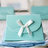 Romantischer Augenblick Handtasche geformt Geschenkboxen mit Bänder (Satz von 12)