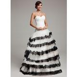 Duchesse-Linie Herzausschnitt Sweep/Pinsel zug Tüll Quinceañera Kleid (Kleid für die Geburtstagsfeier) mit Spitze Gestufte Rüschen