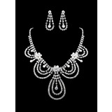 Rhinestone Two Piece Ladies' Fine Design Wedding Jewelry Set  (011011960)