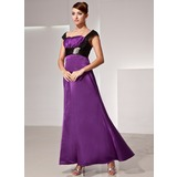 Empire Sweetheart Ankle-Length Charmeuse Mother of the Bride Dress With Ruffle Sash Beading