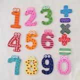 Zahlen & Symbole Aus Holz Kühlschrankmagnete (Set von 15 Stück)