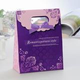 Romantische Muster Stil Geschenktaschen mit Bänder (Satz von 12)