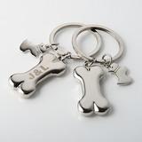 Individualisiert Hundeknochen Stil Zink-Legierung Schlüsselanhänger (4-er Set) (051028896)